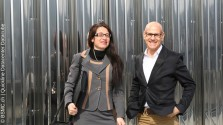 Links: Bettina Metzler (BSMC) mit Peter Wyss